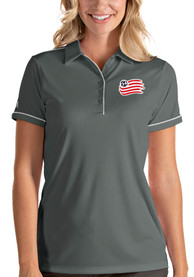 New England Revolution Womens Antigua Salute Polo Shirt - Grey