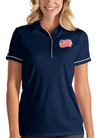 New England Revolution Womens Antigua Salute Polo Shirt - Navy Blue