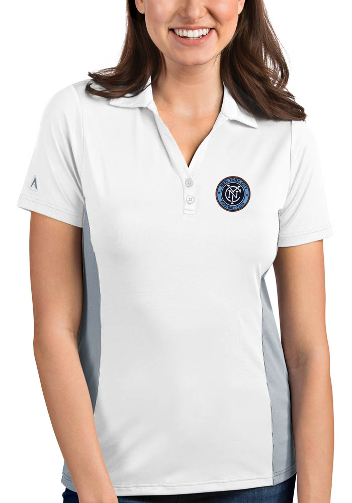 New York City FC Womens Antigua Venture Polo Shirt - White