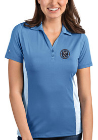 New York City FC Womens Antigua Venture Polo Shirt - Blue