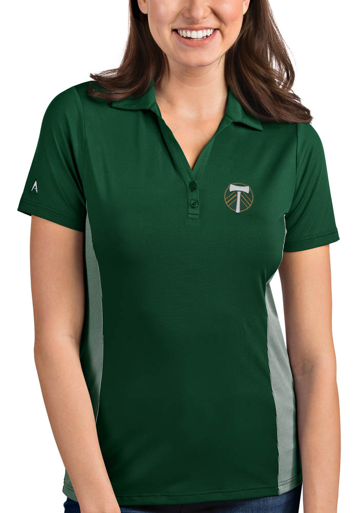 Antigua Portland Timbers Womens Green Venture Short Sleeve Polo Shirt - Image 1