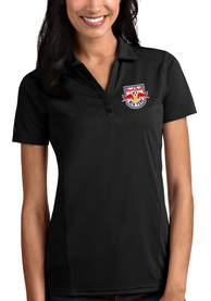 New York Red Bulls Womens Antigua Tribute Polo Shirt - Black