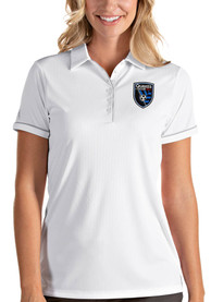 San Jose Earthquakes Womens Antigua Salute Polo Shirt - White
