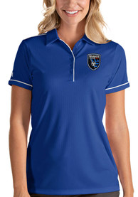San Jose Earthquakes Womens Antigua Salute Polo Shirt - Blue