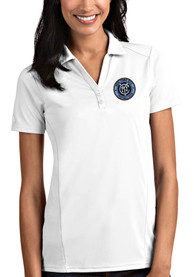 New York City FC Womens Antigua Tribute Polo Shirt - White