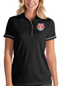 New York Red Bulls Womens Antigua Salute Polo Shirt - Black