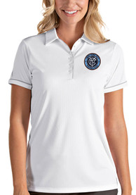 New York City FC Womens Antigua Salute Polo Shirt - White