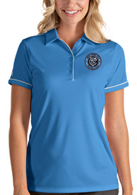 New York City FC Womens Antigua Salute Polo Shirt - Blue