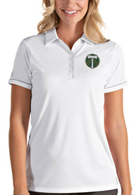 Portland Timbers Womens Antigua Salute Polo Shirt - White