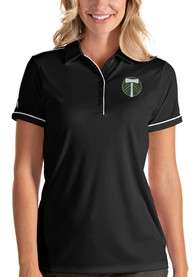 Portland Timbers Womens Antigua Salute Polo Shirt - Black