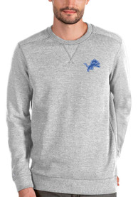 Antigua Detroit Lions Grey Defender Sweater