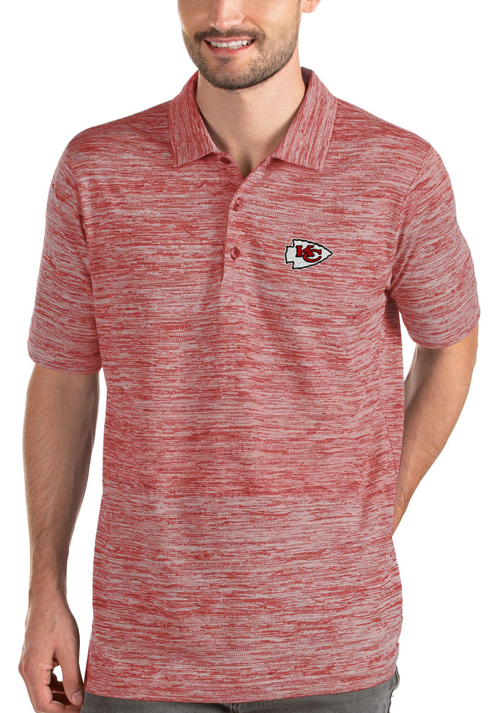 Antigua Kansas City Chiefs Mens Red Possession Short Sleeve Polo - Image 1