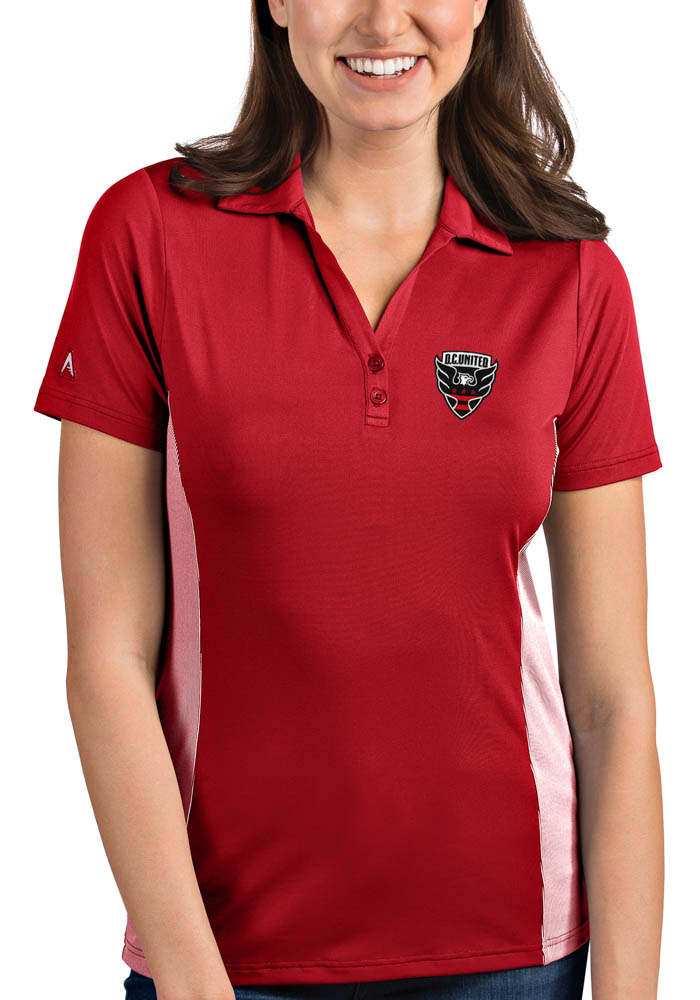 DC United Womens Antigua Venture Polo Shirt - Red