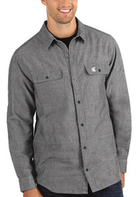 Antigua Michigan State Spartans Grey Official Dress Shirt