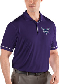 Charlotte Hornets Antigua Salute Polo Shirt - Purple