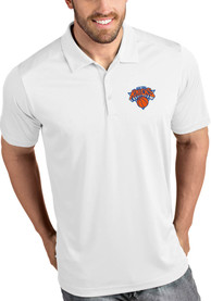 Antigua New York Knicks White Tribute Short Sleeve Polo Shirt
