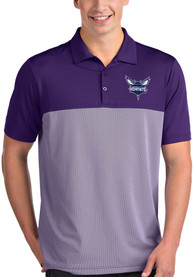 Charlotte Hornets Antigua Venture Polo Shirt - Purple