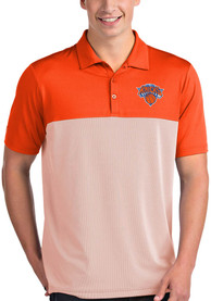 Antigua New York Knicks Orange Venture Short Sleeve Polo Shirt