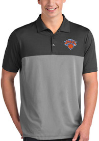 Antigua New York Knicks Grey Venture Short Sleeve Polo Shirt