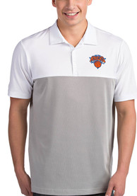 Antigua New York Knicks White Venture Short Sleeve Polo Shirt