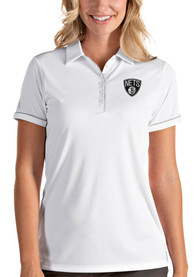 Brooklyn Nets Womens Antigua Salute Polo Shirt - White