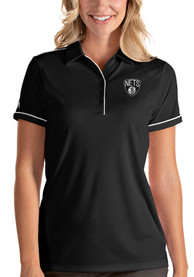 Brooklyn Nets Womens Antigua Salute Polo Shirt - Black