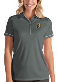 Indiana Pacers Womens Antigua Salute Polo Shirt - Grey