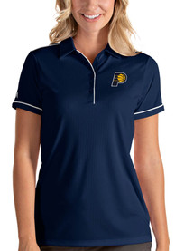 Indiana Pacers Womens Antigua Salute Polo Shirt - Navy Blue