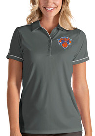 Antigua New York Knicks Womens Grey Salute Polo