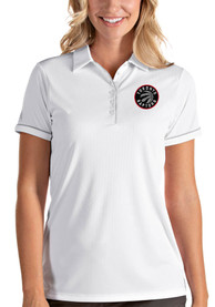 Toronto Raptors Womens Antigua Salute Polo Shirt - White