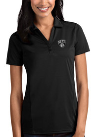 Brooklyn Nets Womens Antigua Tribute Polo Shirt - Black
