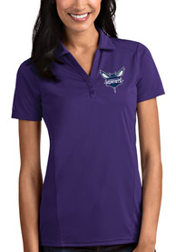 Charlotte Hornets Womens Antigua Tribute Polo Shirt - Purple