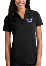 Charlotte Hornets Womens Antigua Tribute Polo Shirt - Black