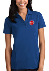 Detroit Pistons Womens Antigua Tribute Polo Shirt - Blue