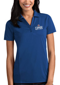 Antigua Los Angeles Clippers Womens Blue Tribute Polo