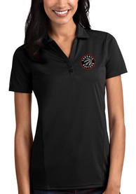 Toronto Raptors Womens Antigua Tribute Polo Shirt - Black