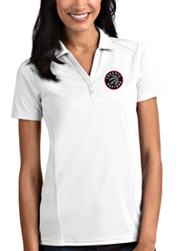 Toronto Raptors Womens Antigua Tribute Polo Shirt - White