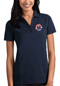 Washington Wizards Womens Antigua Tribute Polo Shirt - Navy Blue