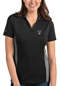 Brooklyn Nets Womens Antigua Venture Polo Shirt - Grey