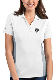 Brooklyn Nets Womens Antigua Venture Polo Shirt - White