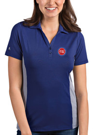 Detroit Pistons Womens Antigua Venture Polo Shirt - Blue
