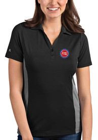 Detroit Pistons Womens Antigua Venture Polo Shirt - Grey