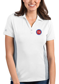 Detroit Pistons Womens Antigua Venture Polo Shirt - White