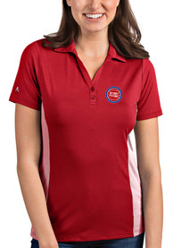 Detroit Pistons Womens Antigua Venture Polo Shirt - Red