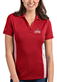 Antigua Los Angeles Clippers Womens Red Venture Polo