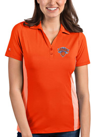 Antigua New York Knicks Womens Orange Venture Polo