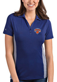 Antigua New York Knicks Womens Blue Venture Polo