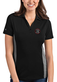 Toronto Raptors Womens Antigua Venture Polo Shirt - Black