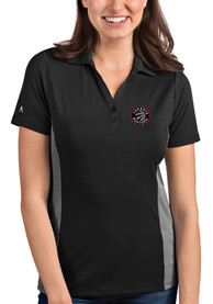 Toronto Raptors Womens Antigua Venture Polo Shirt - Grey