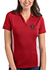 Toronto Raptors Womens Antigua Venture Polo Shirt - Red